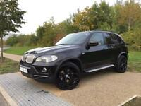 LHD LEFT HAND DRIVE BMW 2008 X5 3.0D E70 BLACK DVD IMMACULATE ''WARRANTY'' PART EXCHANGE WELCOME