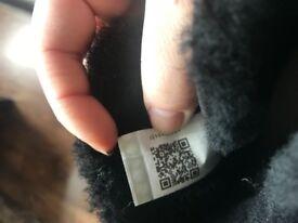 Genuine black leather short uggs size 5