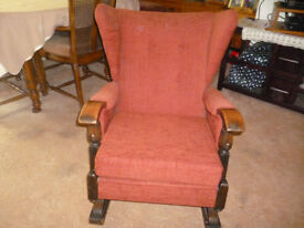 Upholstered Sprung Rocking Chair