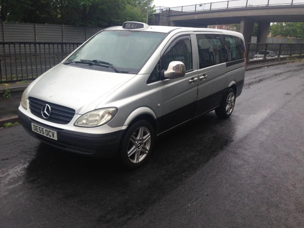2006 55reg mercedes vito 2 2 109 cdifactory taxi mini bus. Black Bedroom Furniture Sets. Home Design Ideas