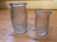 Antique Shippman's glass jars