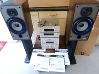 TEAC HI FI SYSTEM COMPLETE SET UP.