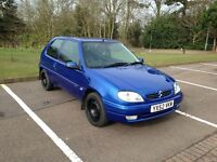 Citroen Saxo for sale, low mileage and Full MOT with no Advisories £675