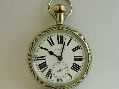 orologio da tasca funziona HELVETIA pocket watch working B119
