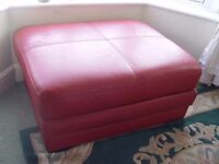 Exquisite Deep Red Italian Pouf - Almost New!