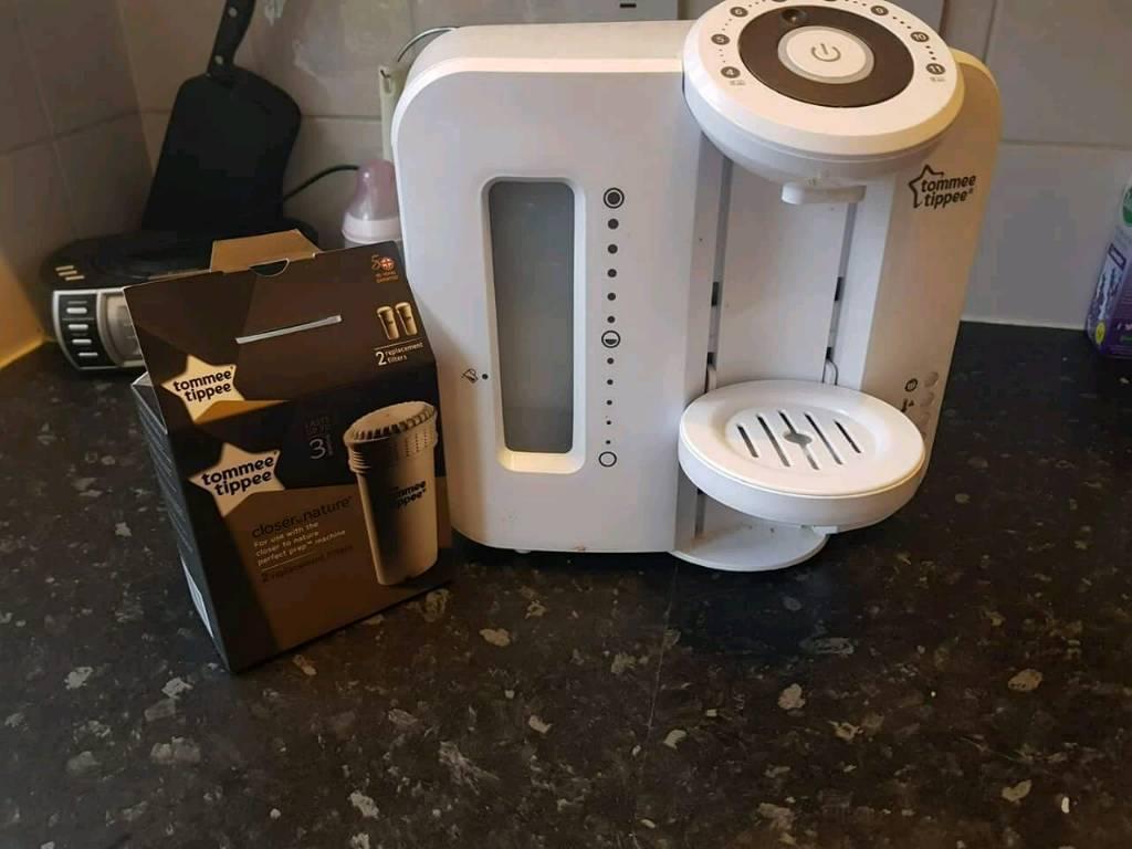Prep machine with brand new filter
