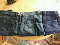 3 x jeans size 14