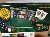 300 piece poker set never played with