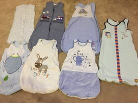 Selection of baby boy grow bags ages 0-6, 12-18 months