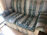FREE 3 piece suite, 2x 2 seater sofas & an armchair