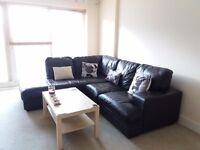 Brown Italian leather Corner Sofa