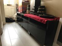 Black IKEA gloss and glass to unit