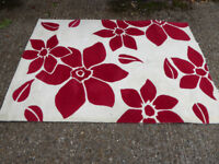 RED AND WHITE RUG FOR SALE