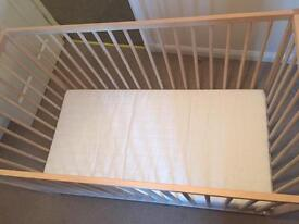 SOLD Ikea cot and mattress