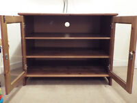 Wooden TV cabinet. Used condition.