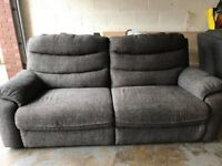 Three and two seater settee with chair