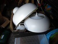 2 IKEA Nymåne pendant lamps white