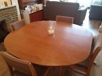 Extendable Dining Set + Table Cloths