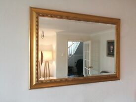 Large gold bevell edged mirror