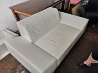 Italian white leather sofa