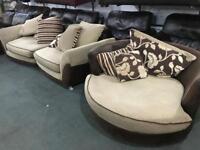Stunning fabric 3 and 1 Sofa set