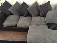 Black and grey sofa