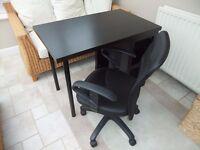 Ikea Desk in Black/Brown