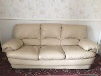 Original Cream Leather Sofas, Greater Manchester