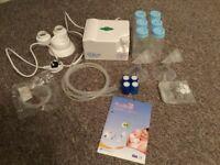 Electric breast pump + accessories