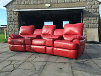 xDFS red leather electric cinema recliner VGC DELIVERY AVAILABLE