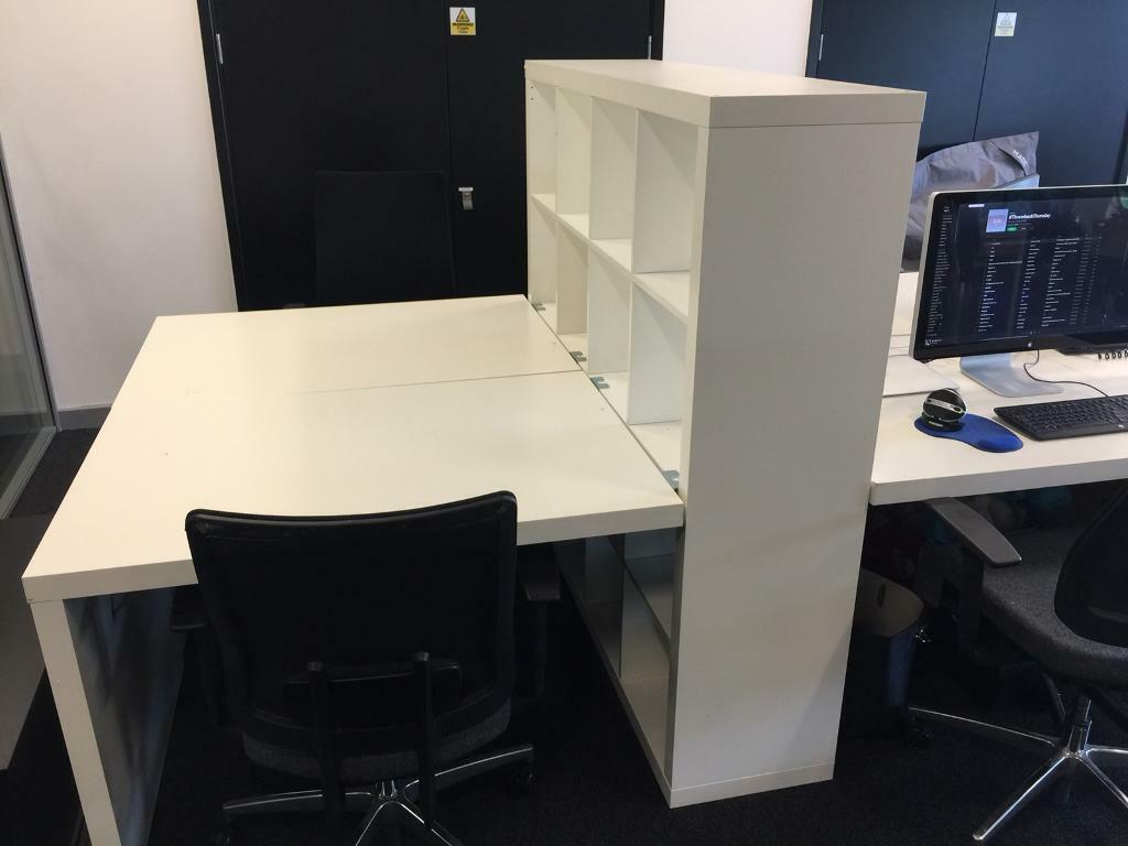 Ikea Kallax Desk Office Table Storage Unit In Salford  # Bureau Kallax