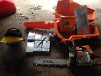 Sthil 025 chainsaw with 6 extra chains