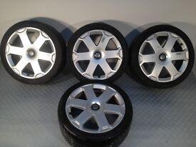 "Original Audi S line 18"" 5x112 8J alloy wheels, comes with tyres, not borbet, ats, azev, hartge"