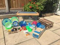 Hamster cage / tank with loads of accessories