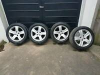 16 inch Peugeot Alloys With Tyres