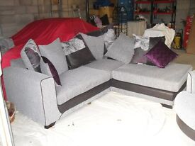 """""""L"""" Shape Settee and swivel chair. Less than 6 months old"""