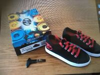 Heelys.... Black & Red. Size 2.