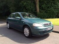 2002 VAUXHALL ASTRA 1.6 CLUB ** ONLY 72000 MILES + 12 MONTHS MOT + 1 PREVIOUS OWNER **