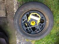 Spare wheel and tool kit clio
