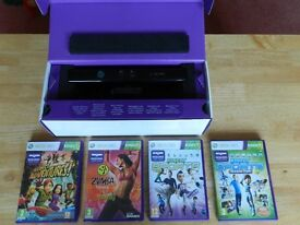 Kinect console plus x 4 games