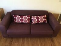 Two seater sofa (aubergine)