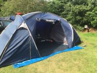 4 man tent with 2 separate sleeping areas
