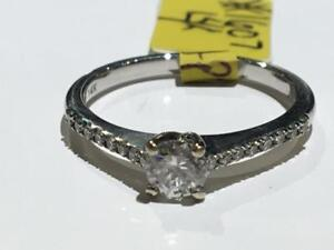 #1607 14K WHITE GOLD DIAMOND ENGAGEMENT RING .35CT VS2 CENTRE DIAMOND *SIZE 7* APPRAISED FOR $3550.00 SELLING FOR $1195!