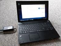 Toshiba Satellite C50 AMD E1 500GB HD 3GB Windows 10 Home as new