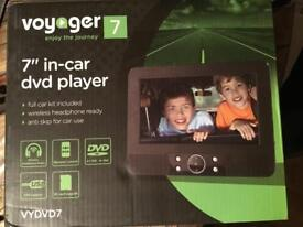 "Voyager 7"" In Car DVD Player As New"