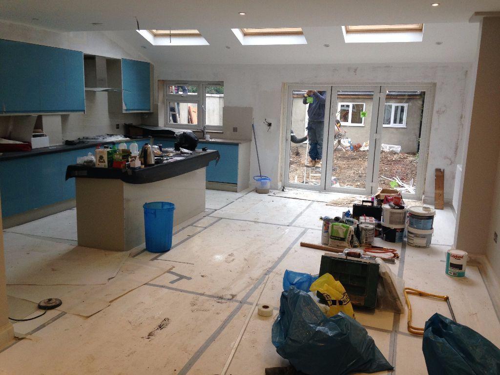 New Refurb Semi House 5 Bed 2 Bath 3 WC Triple Kitchen Island Dining Sitting Doors To Garden Garage