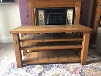 Solid Oak Living Room Table / Television Unit