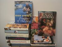Bundle of Great Cooking Books for all tastes! In very good condition- 13 of them.