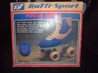 vintage 70/80s roller boots size 41 - 8 uk