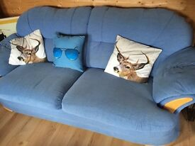 Large 2 seater sofa and matching footstool